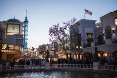 Het Bosjewinkelcentrum in Los Angeles stock foto