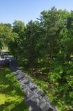 Het bospark in centrum van Bratislava, Slowakije Stock Foto