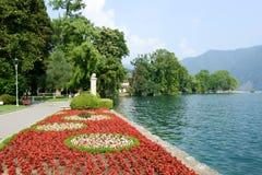 Het botanische park van Ciani in Lugano op Zwitserland stock fotografie