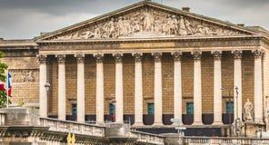 In het Bourbonpaleis de Franse Nationale assemblee Royalty-vrije Stock Afbeelding