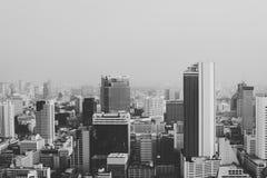 Het bouwcityscape Concept Van de binnenstad van de Horizon Concrete Wildernis Stock Foto's