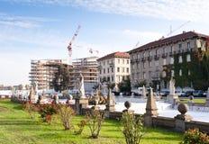 Het bouwterrein van CityLife, piazza Giulio Cesare Royalty-vrije Stock Foto's