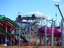 Het bouwterrein van het waterpark Stock Afbeeldingen