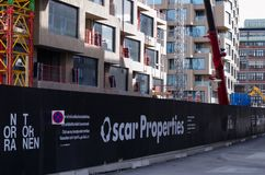 Het bouwterrein van Oscar Properties stock afbeeldingen