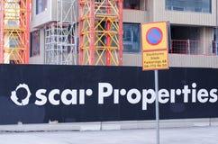 Het bouwterrein van Oscar Properties royalty-vrije stock foto's