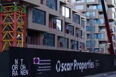 Het bouwterrein van Oscar Properties stock afbeelding