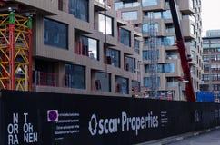 Het bouwterrein van Oscar Properties stock foto