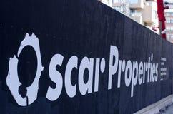 Het bouwterrein van Oscar Properties stock fotografie