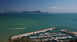 Het bovengenoemde uitzicht van Sidi bou Stock Afbeelding