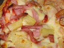 Het bovenste laagje van de pizza Stock Afbeeldingen
