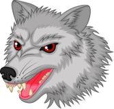 Het boze karakter van het wolfsbeeldverhaal Stock Afbeelding