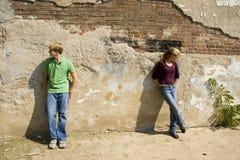 Het boze Paar van de Tiener Stock Afbeelding