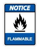 Het brandbare Brandbare Symboolteken isoleert op Witte Achtergrond, Vectorillustratie stock illustratie