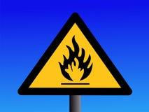Het brandbare teken van de voorzichtigheid Royalty-vrije Stock Foto