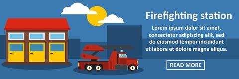Het brandbestrijdings horizontale concept van de postbanner stock illustratie