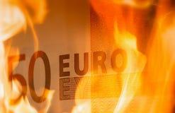 £10 het branden Royalty-vrije Stock Afbeelding