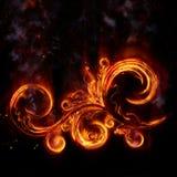 Het branden bloemen patern Vector Illustratie