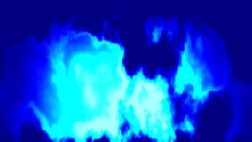 Het branden brand achtergrond naadloze lijnvideo - donkere en lichtblauwe kleuren stock videobeelden