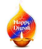 Het branden diya op gelukkige Diwali-Vakantieachtergrond voor licht festival van India Royalty-vrije Stock Fotografie