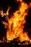 Het branden Falla in Valencia. Brand. stock foto
