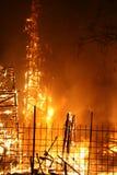 Het branden Falla in Valencia. Brand. stock fotografie