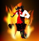 Het branden flamencodans Royalty-vrije Stock Foto