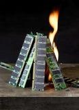 Het branden RAM Stock Foto