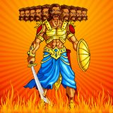 Het branden Ravana in Dussehra vector illustratie