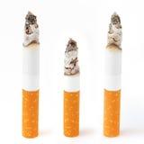 Het branden sigaretten Stock Foto's
