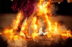Het branden van dancefloor Royalty-vrije Stock Afbeeldingen