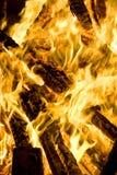 Het branden van de brand Stock Foto's