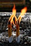 Het branden van de kaars Royalty-vrije Stock Afbeelding