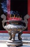 Het branden van de wierook Royalty-vrije Stock Fotografie