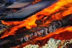 Het branden van het hout royalty-vrije stock foto's