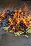 Het branden van joss documenten Royalty-vrije Stock Afbeelding