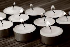 Het branden van kaarsen Royalty-vrije Stock Foto