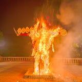 Het branden van Ravana Stock Fotografie