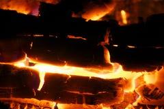 Het branden van Sintels Royalty-vrije Stock Afbeeldingen