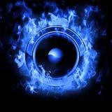 Het branden van Spreker met echt vlammeneffect Royalty-vrije Stock Afbeelding