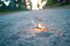 Het branden Wens Royalty-vrije Stock Fotografie