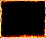Het brandende frame van de brand Stock Afbeelding