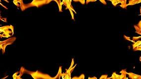 Het brandende frame van de brand stock videobeelden