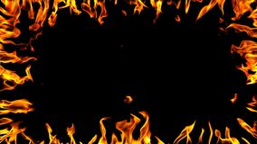 Het brandende frame van de brand stock footage