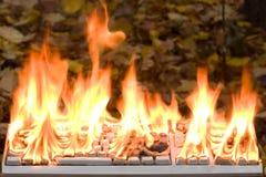 Het brandende toetsenbord Stock Afbeelding
