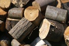 Het brandhout van de besnoeiing Stock Fotografie