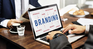 Het brandmerken Bedrijfstrategie Marketing Concept stock afbeeldingen