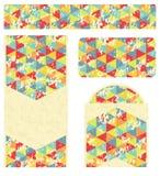 Het brandmerken Ontwerp met Retro Driehoekenpatroon Stock Afbeelding