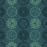 Het brandwerk bloeit symmetrie naadloos patroon vector illustratie