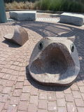 Het brede Beeldhouwwerk van Mondvissen Stock Fotografie