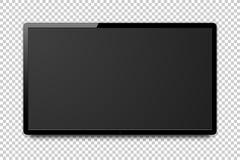 Het brede realistische 4k TV-scherm Stock Fotografie